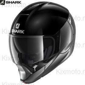 Мотошлем Shark Evojet Dual, Чёрно-серебристый