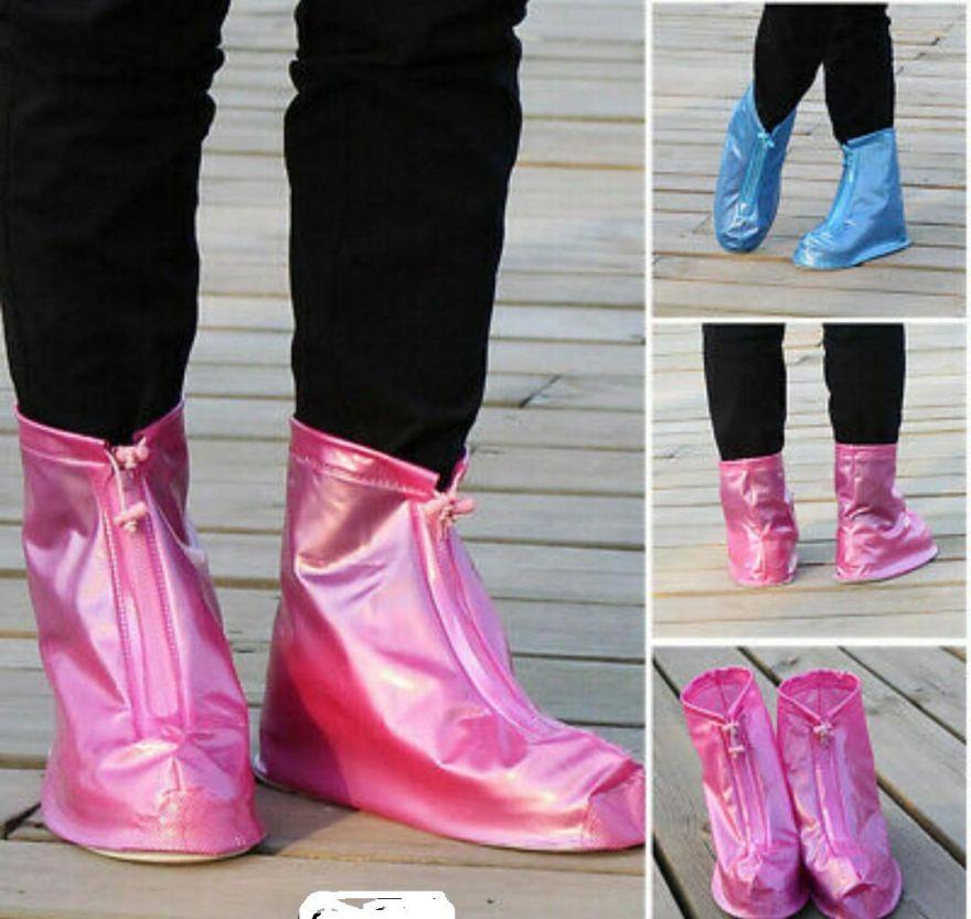 Защитные чехлы для обуви от дождя и грязи с подошвой цветные
