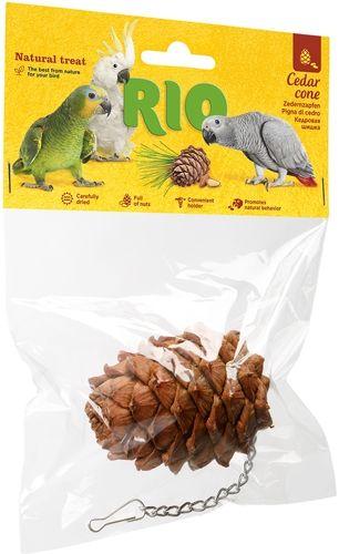 Лакомство-игрушка РИО кедровая шишка для крупных и средних попугаев 1шт
