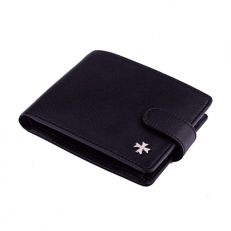 Портмоне с вкладышем из натуральной кожи Narvin 9695-N.Polo Black