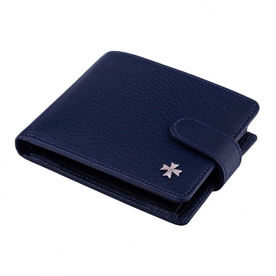 Портмоне с вкладышем из натуральной кожи Narvin 9695-N.Polo D.Blue/Black