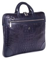 Портфель-сумка из натуральной кожи с увеличением объема Narvin 9742-N.Bambino D.Blue