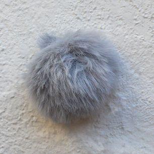 Меховой помпон - Серый, 5 см