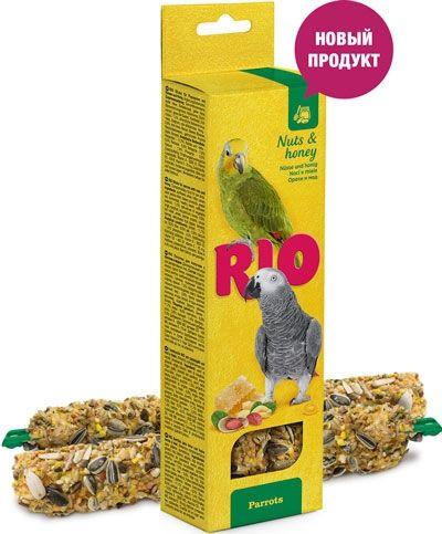 Палочки РИО для попугаев с медом и орехами 2х90 гр