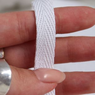 Тесьма киперная 1 см  - Белая
