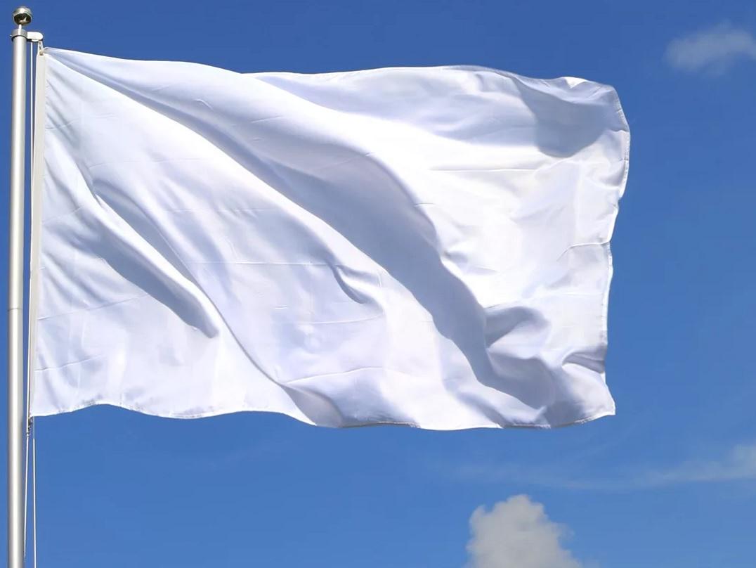Белый флаг 135х90см.