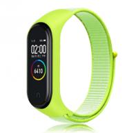 Сменный тканевый ремешок на фитнес-браслет Xiaomi mi band 5/6 ( Зеленый )