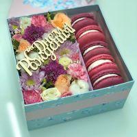 Цветы и сладости в коробочке №8