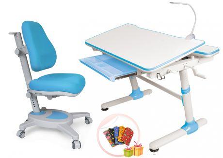 Комплект Mealux: парта Duke + кресло Onyx + лампа
