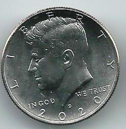 Джон Кеннеди 50 центов США 2020 Монетный двор D