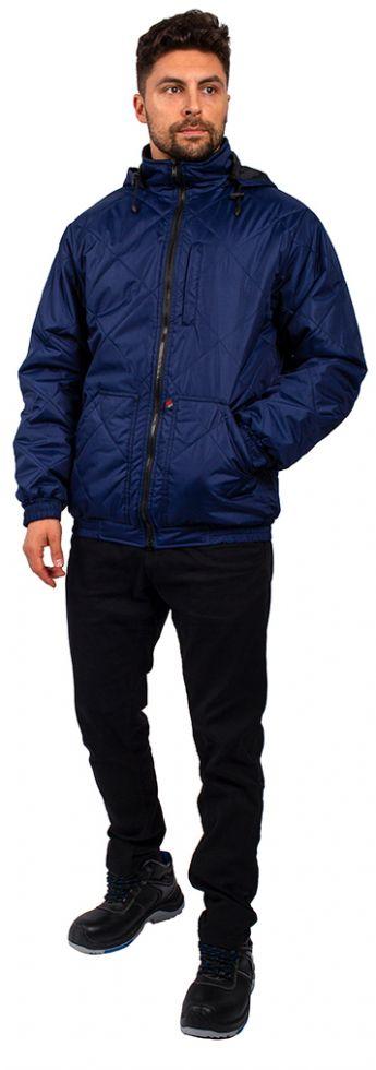 Куртка демисезонная Бомбер-Люкс (тк.Дюспо), т.синий