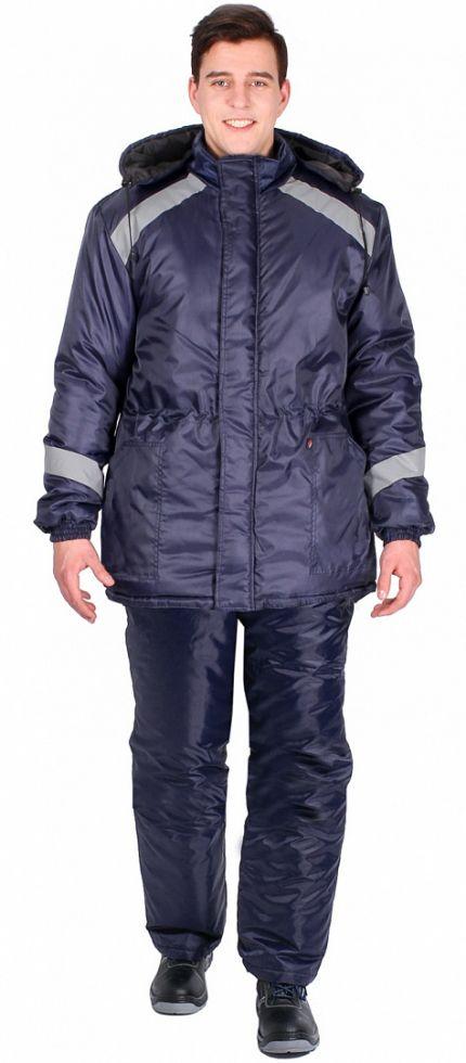 Куртка зимняя Прогресс (тк.Оксфорд), т.синий