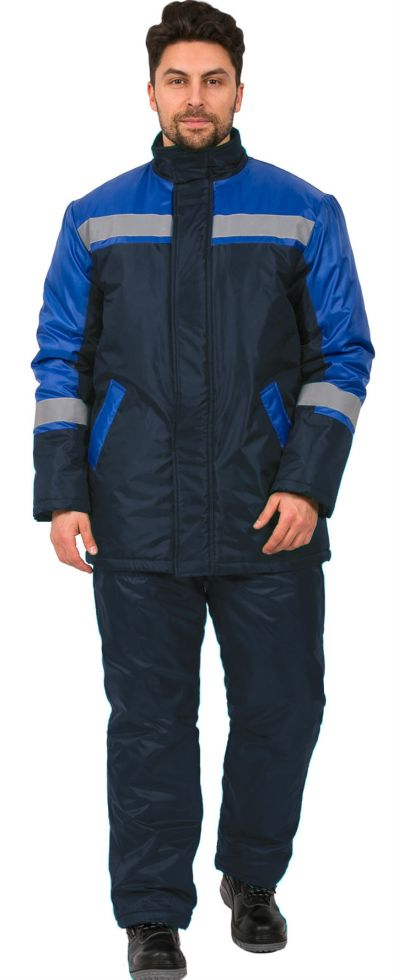 Куртка зимняя Стандарт (тк.Оксфорд), т.синий/васильковый