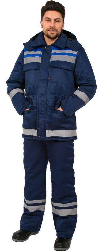 Куртка зимняя Горизонт-Люкс (тк.Смесовая,210) т.синий/васильковый