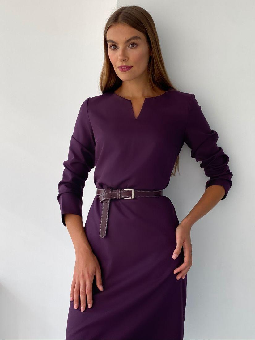 """s2349 Платье с вырезом в цвете """"wine"""""""