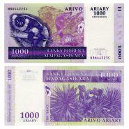 Мадагаскар - 1000 ариари 2004 (2009) UNC ПРЕСС