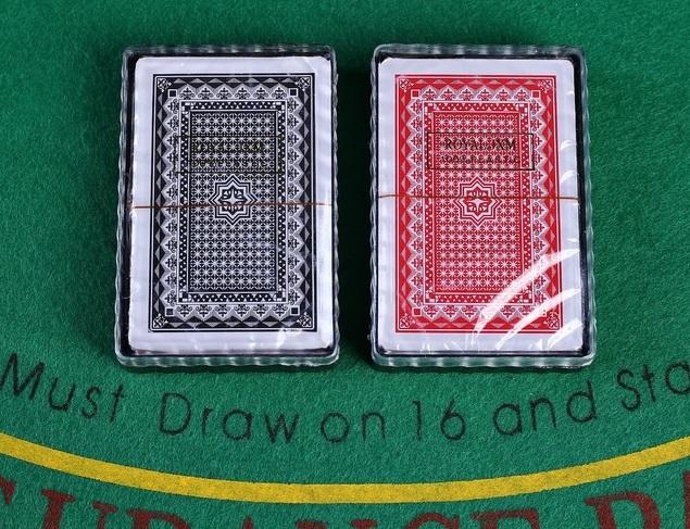 Карты игральные пластиковые Royal Classic, 54 шт., 25 мкм, 8,8 ? 6,3 см, микс