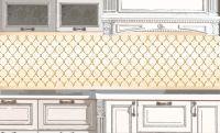 Наклейка на фартук кухни - Роскошь 2 | интерьерные наклейки