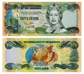 БАГАМСКИЕ ОСТРОВА - 1/2 доллара 2001. ПРЕСС UNC
