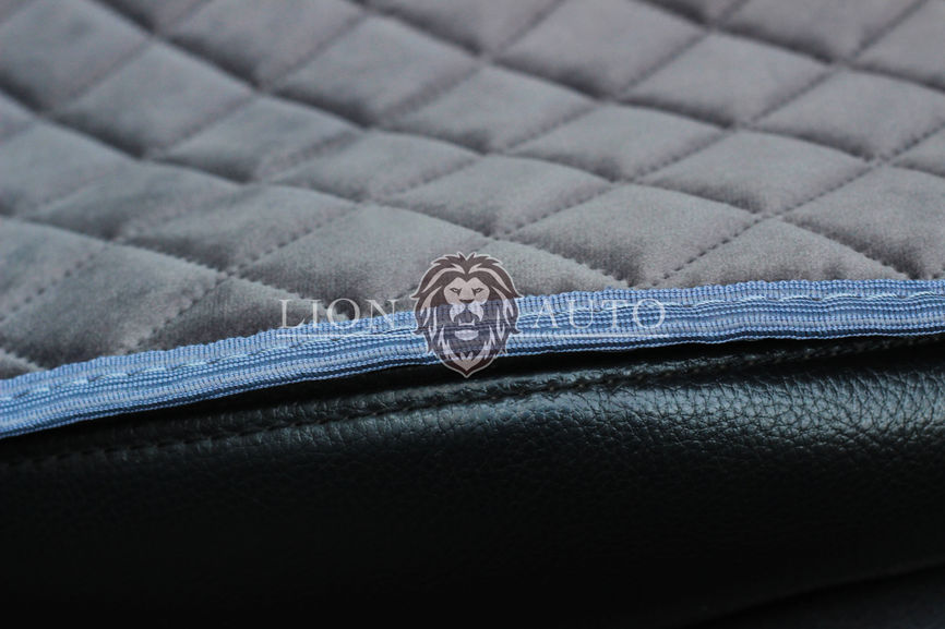 Накидки на сиденья из велюра Premium (серая)