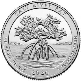 Бухта Солёной реки (Американские Виргинские острова) 25 центов США 2020 Двор S