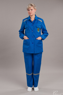 Костюм скорой помощи летний женский мод.119 тканьСИСУ