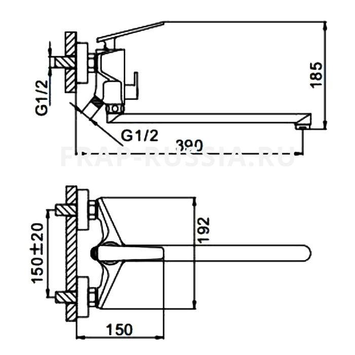 Смеситель для ванны FRAP H57 F2257