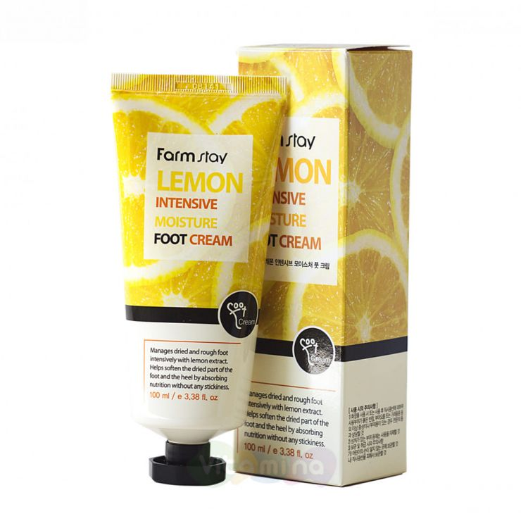 FarmStay Увлажняющий крем для ног с экстрактом лимона Lemon Intensive Moisture Foot Cream, 100 мл