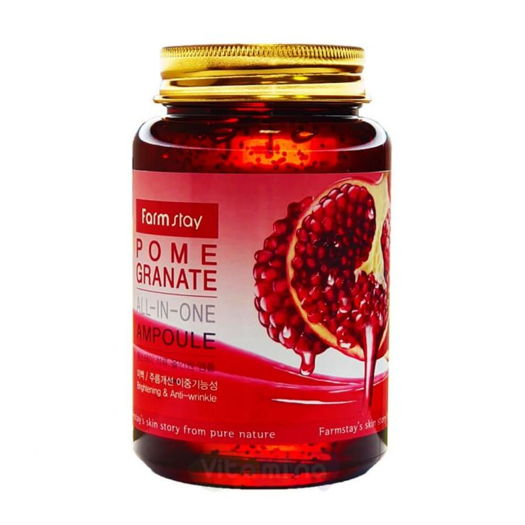 FarmStay Многофункциональная сыворотка с экстрактом граната Pomegranate All-In One Ampoule, 250 мл