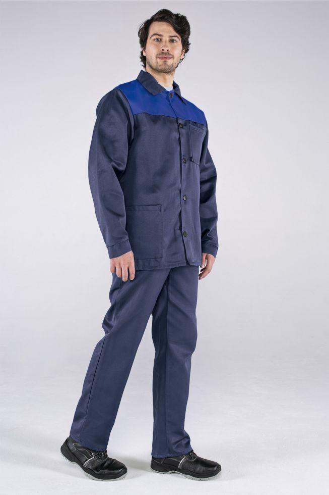 Костюм Стандарт (тк.Смесовая,210) брюки, т.синий/васильковый