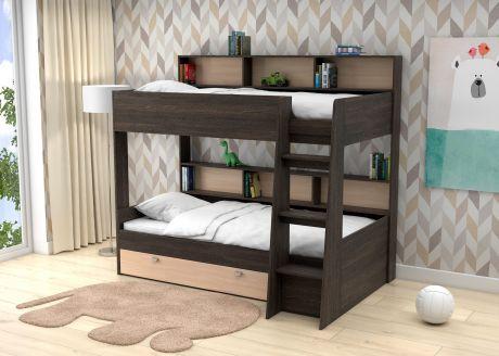 Двухъярусная кровать  Golden Kids 1  (корпус венге)