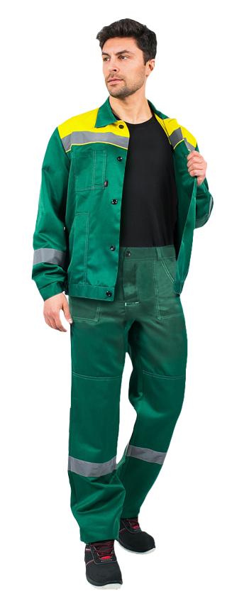 Костюм Легион-1 СОП (тк.Смесовая,210) брюки, зеленый/желтый