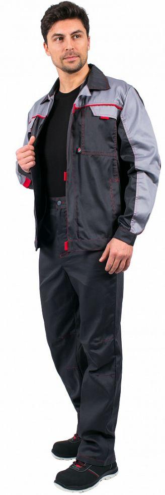 Костюм Фаворит-1 Премиум (тк.Смесовая,240) брюки, т.серый/св.серый
