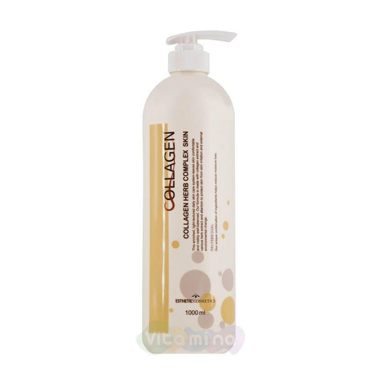 Esthetic House Тоник для лица с коллагеном и растительными экстрактами Collagen Herb Complex Skin, 1000 мл