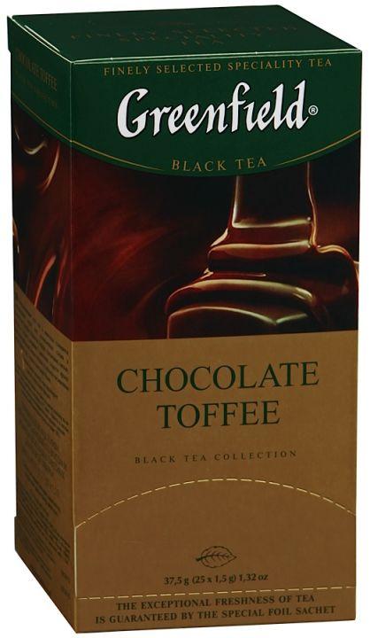 Чай Гринфилд Шоколад Тоффи 25пак*1,5г
