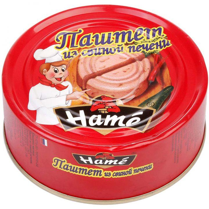Паштет ХАМЕ 105г свиная печень ж/б