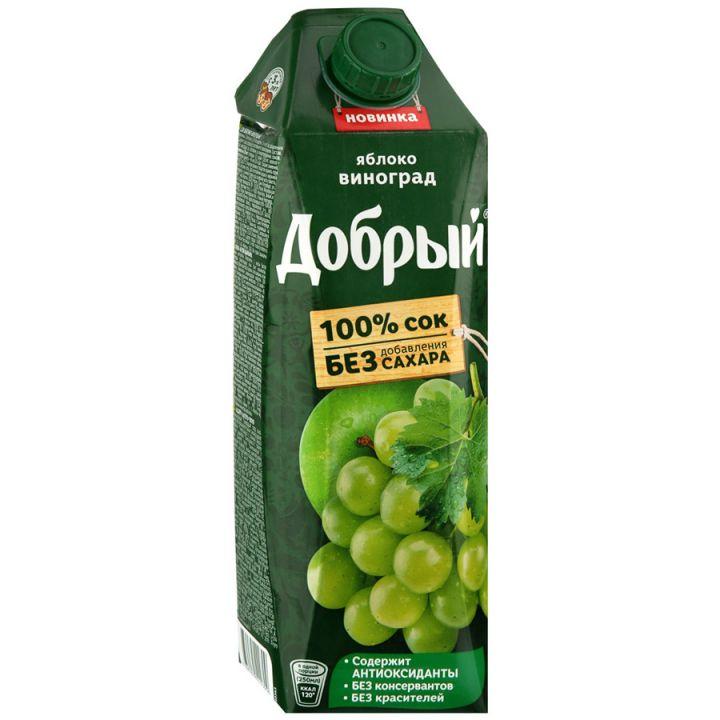 Сок Добрый 1л Яблоко/Виноград