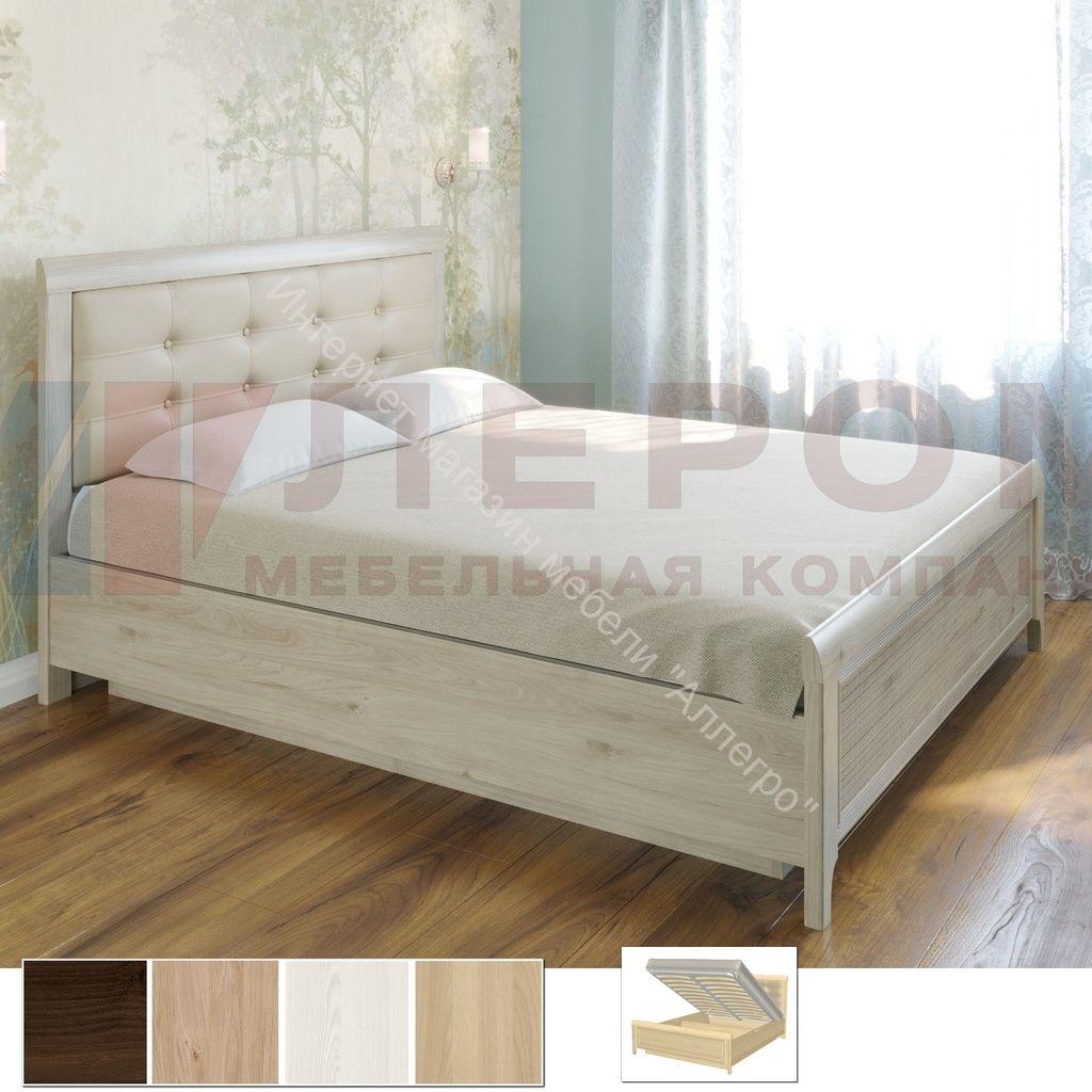 Карина Кровать КР-1033 (1,6х2,0) с П/Мех. и мягким изголовьем