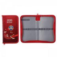 Пенал картон ламинированный 1 отделение 19*11*3 ЧМ по футболу Хатбер-М NPn_23216