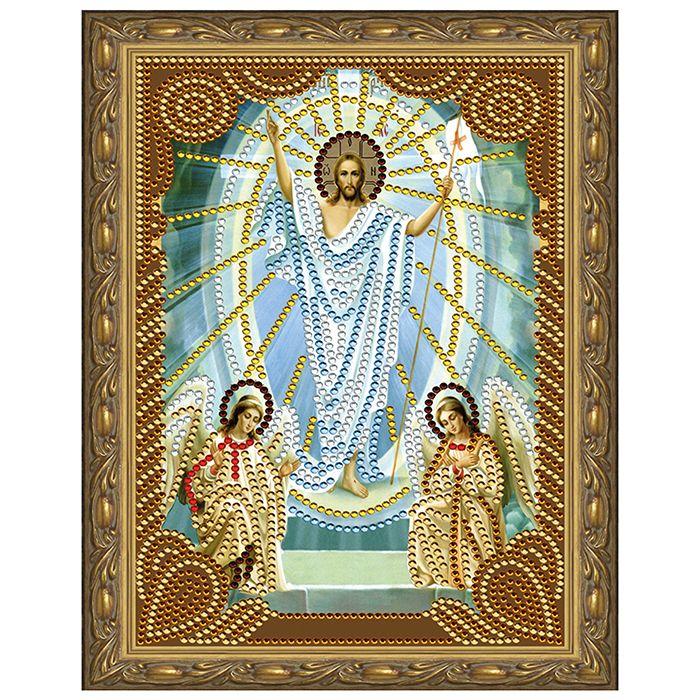 Алмазная живопись 5D мозаика с нанесенной рамкой.Воскресение Христово 20*30см KM0712