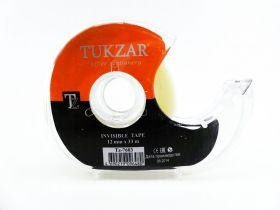 Лента клейкая 12 мм*33 м в диспенсере ТУКЗАР (TZ 7603)