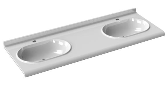 Консольная двойная раковина Azzurra Consolle Size SMLC15055D0M 150 x 55 ФОТО