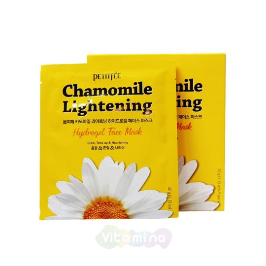 Petitfee Гидрогелевая маска экстрактом ромашки Chamomile Lightening Hydrogel Face Mask, 32 г