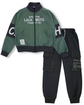 """Спортивный костюм для мальчиков 8-12 лет Bonito """"Lack CEAH"""" хаки"""