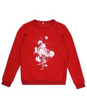 """Свитшот женский """"Flamingo"""" красный"""