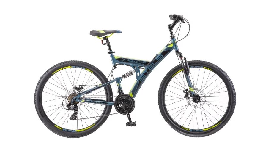Горный (MTB) велосипед STELS Focus MD 27.5 21-sp V010 (2018) Серый/жёлтый