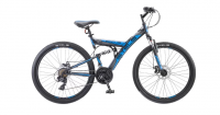 Горный (MTB) велосипед STELS Focus MD 26 21-sp V010 (2018) Черный/синий
