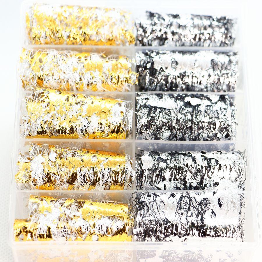 Фольга цветная на сетке 10 шт. набор 4652
