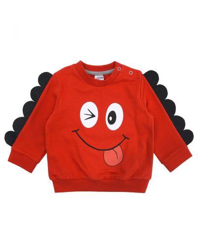 "Свитшот для мальчика Bonito kids ""Dino"" красный"
