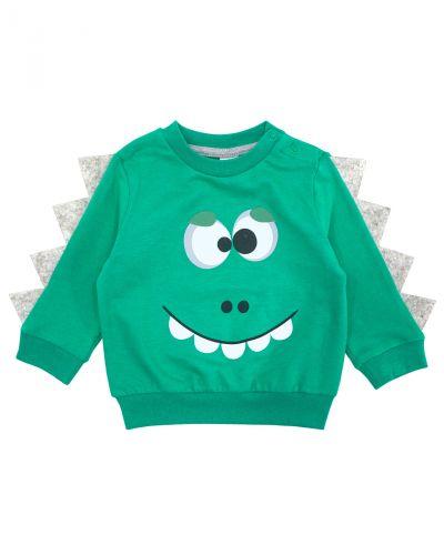"Свитшот для мальчика Bonito kids ""Dino"" зеленый"
